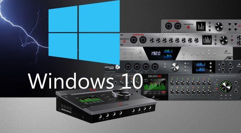 Antelope veröffentlicht erste Windows-Treiber für Thunderbolt Audiointerfaces