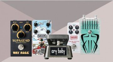Dunlop-MXR-Dookie-Drive-Jerry-Cantrell-wah-Siete-Santos-Octavio-Fuzz-Way-Huge-Smalls-Supa-Lead-Overdrive-and-MXR-Dyna-Comp-Bass-Compressor