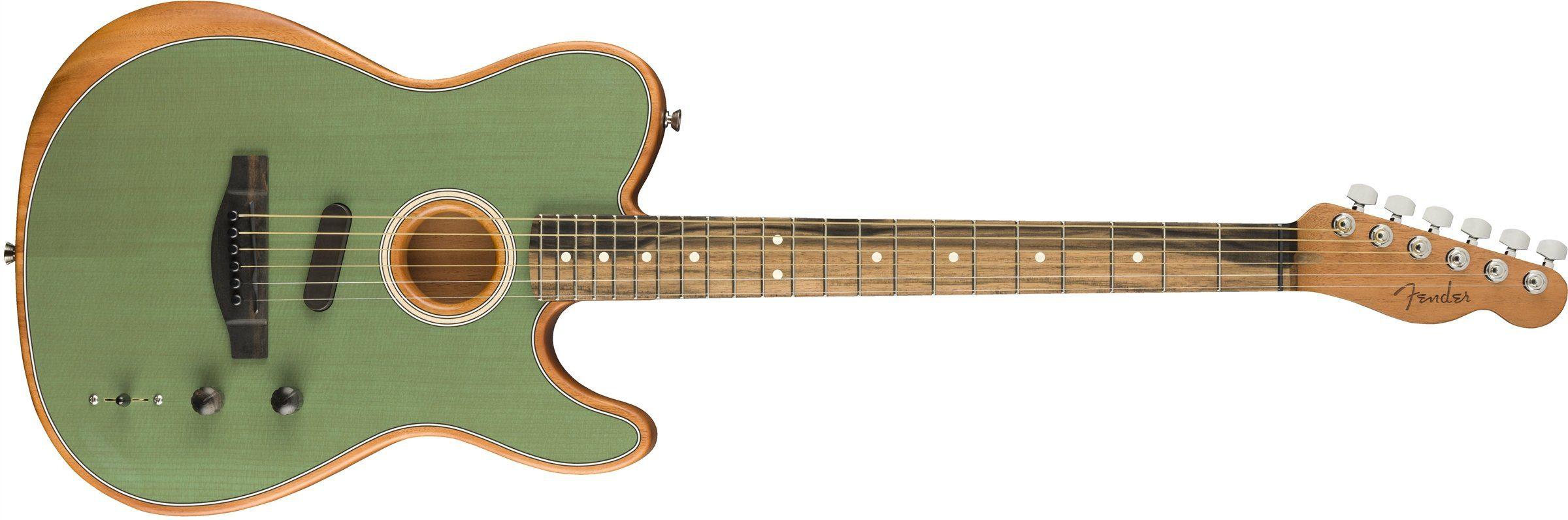 fender-American-Acoustasonic-Telecaster-surf green