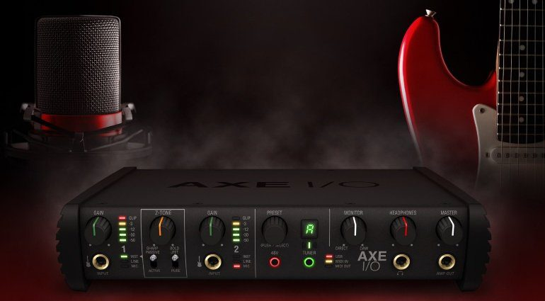 IK Multimedia AXE IO USB Audiointerface Gitarre JFET