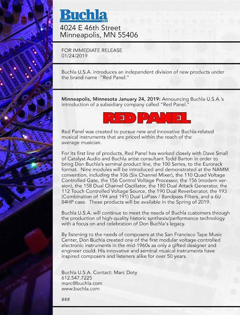Buchla registriert Red Panel