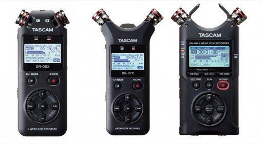 NAMM 2019: Neue Tascam DR-X Reihe veröffentlicht