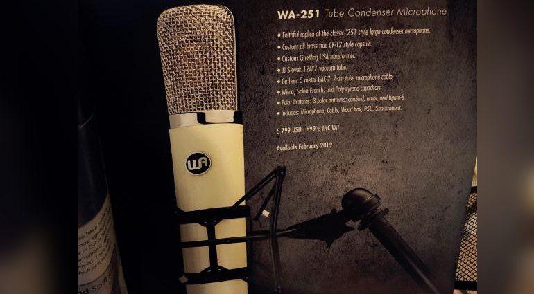 Warm Audio WA 251 Roehren Mikrofon Telefunken Nachbau Kopie