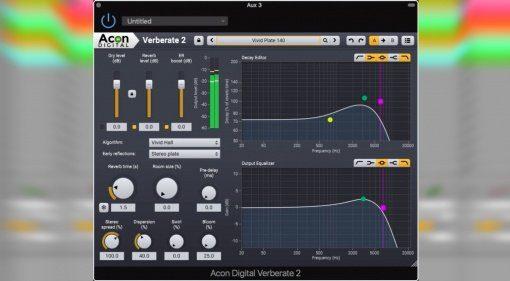 Acon Digital präsentiert mit Verberate 2 ein großes Update ihres Reverb Plug-ins