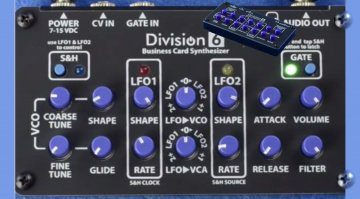 Division6 Business Card Synthesizer