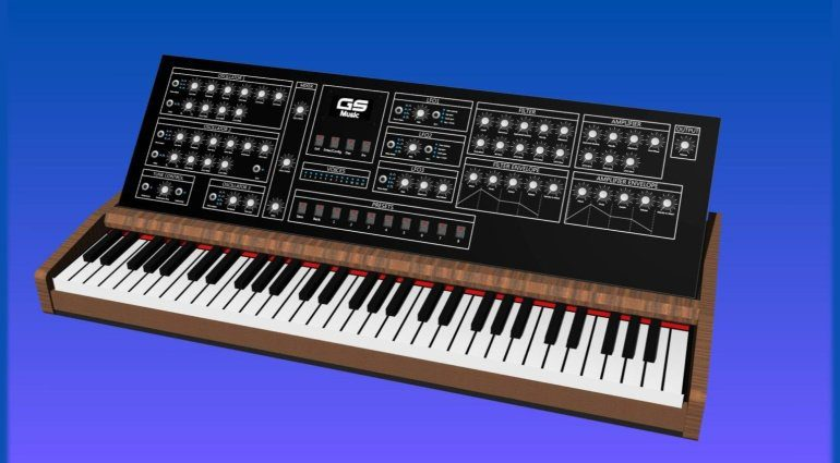 gs-music polyphonic synthesizer