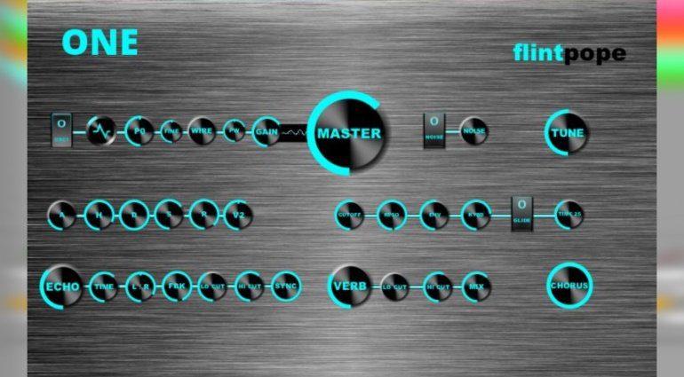 Flintpope One - ein Freeware Synth mit verrückten Schaltungen