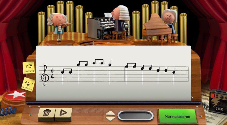 Komponieren wie Johann Sebastian Bach als Google Doodle