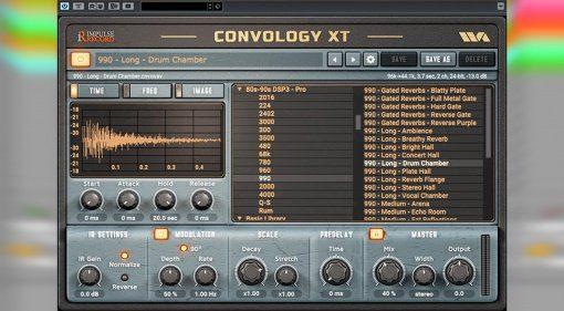 Impulse Record Convology XT Convolution Reverb kommt mit kostenlosem Plug-in