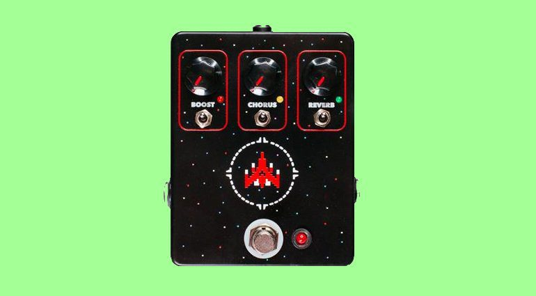 JHS Space Commander Chorus Reverb Booster Effekt Pedal