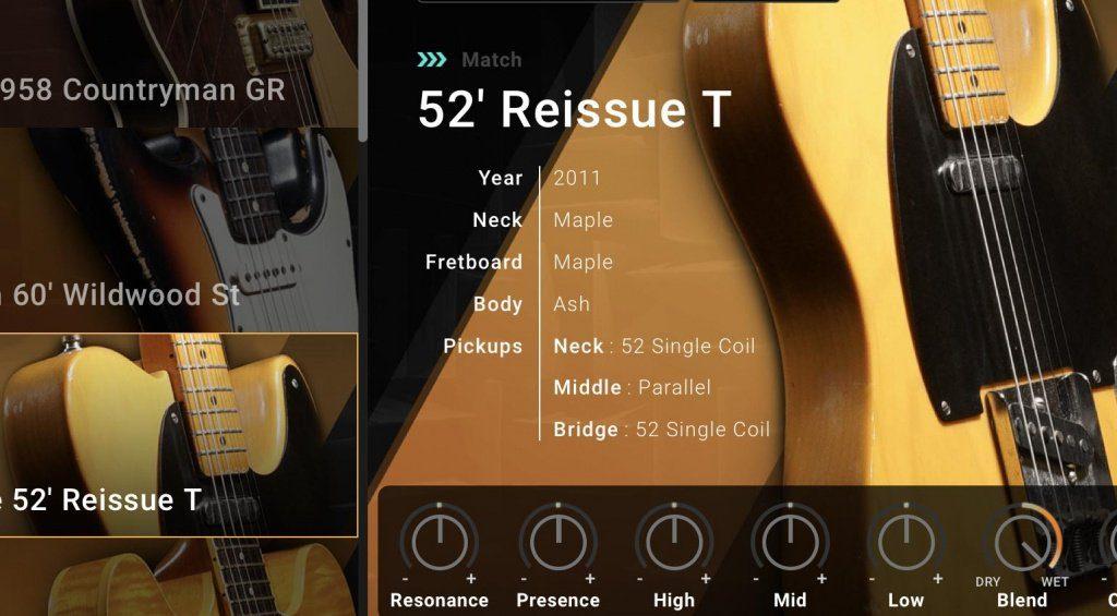 Ein erster Blick auf die Guitar Match Funktion der BIAS FX 2 Software.