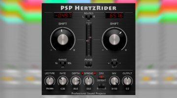 PSP Audioware HertzRider - ein Frequenz Shifter zum Tunen von unharmonischen Klängen