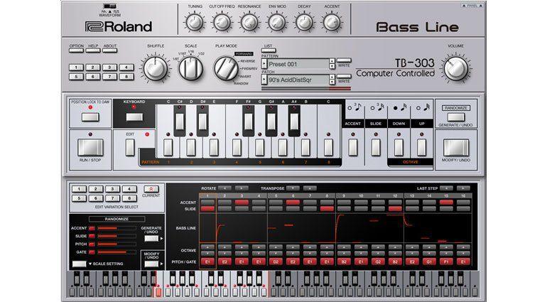 Roland TB-303 Bass Line in der Roland Cloud: der exklusive Sequencer Editor