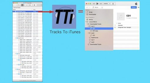 ATGR TTi Tracks to iTunes