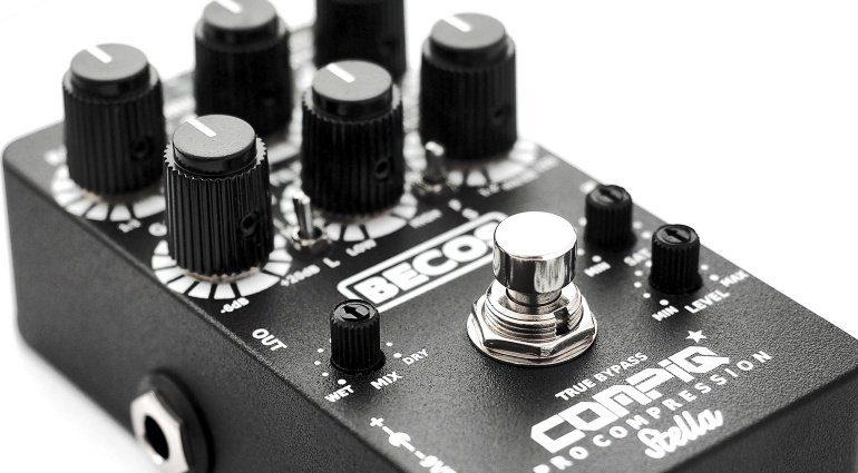 Becos CompIQ Pro Stella VCA Analog Kompressor Effekt Pedal Slant