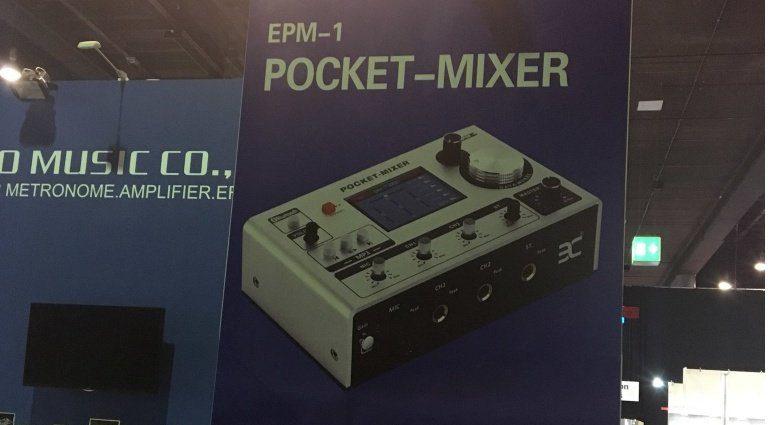 Eno music co ltd Pocket Mixer EPM-1 Musikmesse 2019 aufsteller