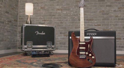 Fender Flame Maple Top Stratocaster Front Komplett