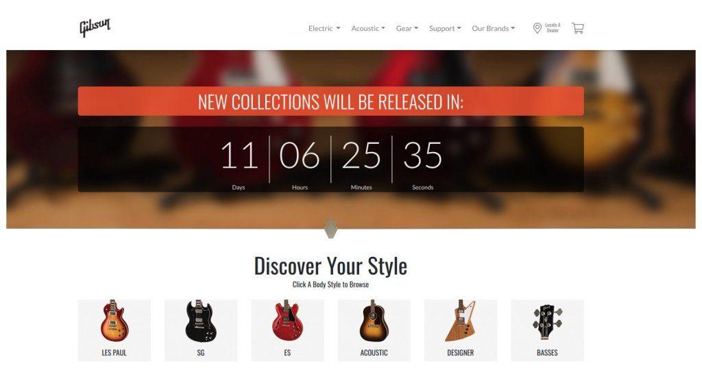 Gibson 2019 Kollektion Countdown