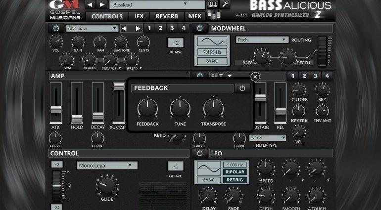 Gospel Musicians veröffentlicht Bass Synthesizer BASSalicious 2 für iOS