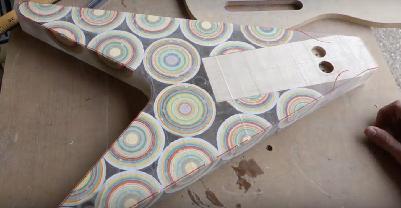 Burls Art Jawbreaker-Flying-V