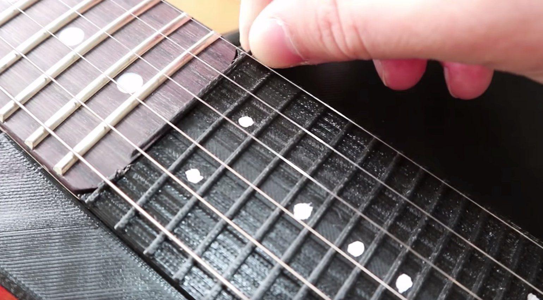 Sopran E-gitarre Video 3d drucker griffbrett
