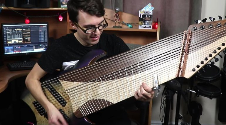 YouTubes-Stevie-T-gets-a-20-String-Guitar