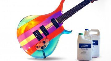 Burls Art Epoxy Resin Guitar