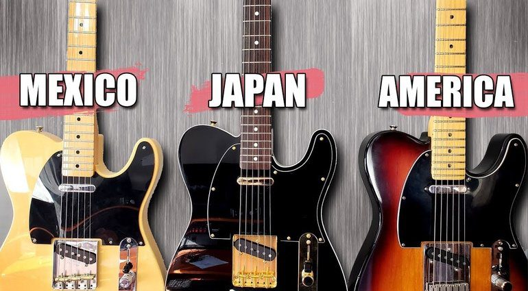 Fender Mexiko Japan USA Vergleich