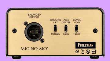 Friedman Amplification Mic No Mo DI Box Box Emulation