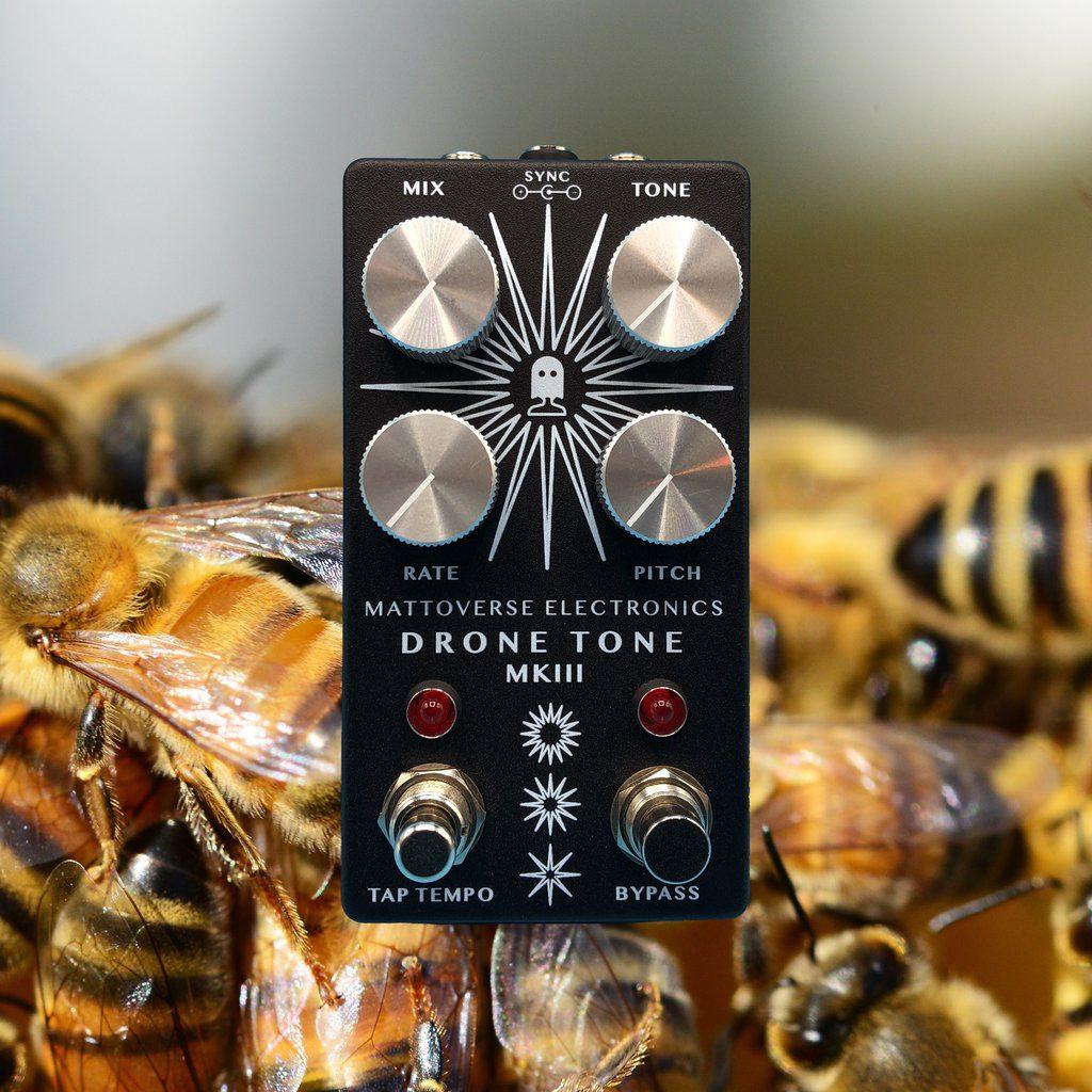 MAttoverse Electronics Drone Tone MK III Effekt PEdal Synth Bees