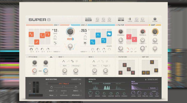Native Instruments Super 8 - ein neuer virtuell analoger Synthesizer für Reaktor 6