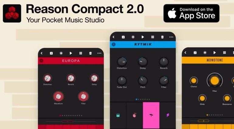 Propellerhead Reason Compact 2.0 - neues All-in-one Musikstudio für iOS