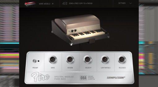 Freeware: Sampleson Fire - schnappt euch für kurze Zeit das Rhodes Piano Bass Plug-in kostenlos!