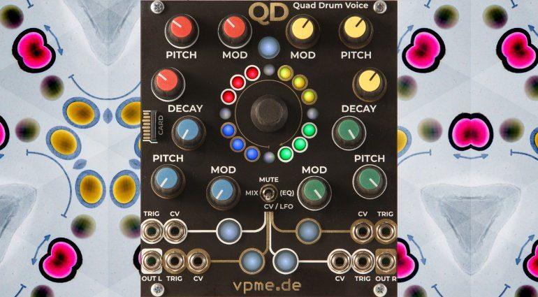 Superbooth 2019: vpme QD - ein Quad Drum Voice Modul mit drei Sound Engines