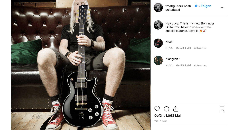 Behringer E-Gitarre LEs Uli Singlecut Freakguitars.basti leak fake