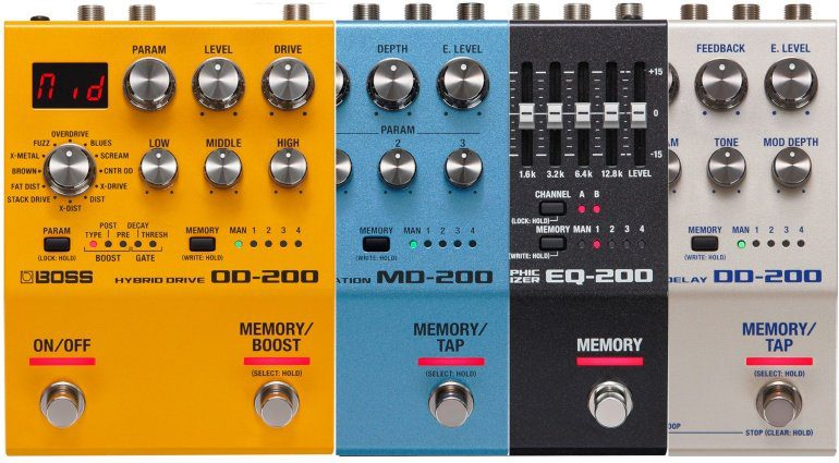 Boss OD-200 MD-200 DD-200 EQ-200 Effekt Pedal 200 Series