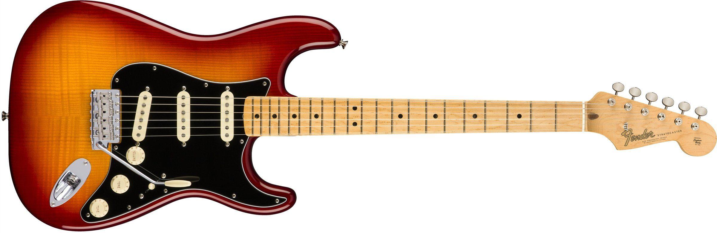 Fender Rarities Stratocaster Plasma Red Burst EGitarre