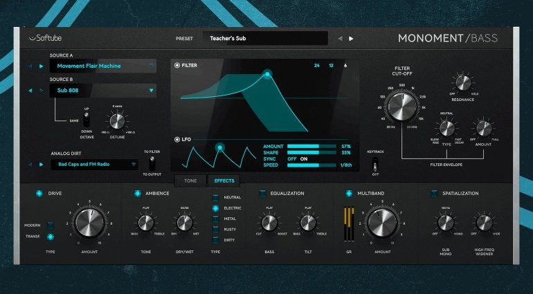 Softube Monoment - ein virtueller Synthesizer mit sehr viel Bass!