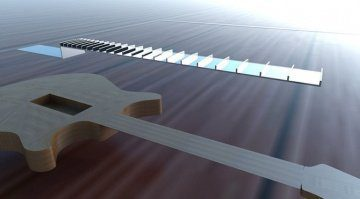 Subfretboard System Project 3D Griffbrett