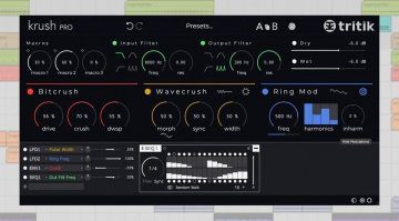 Tritik Krush Pro - professionelles Bitcrushing Plug-in mit sehr viel Modulation