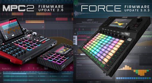 AKAI MPCX 2.6 und Force 3.03 Firmware Updates sind da