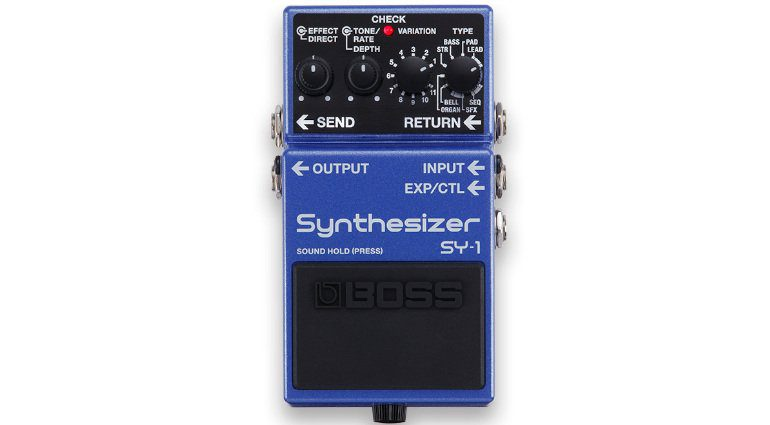 Boss SY-1 Synthesizer Pedal Effekt Front