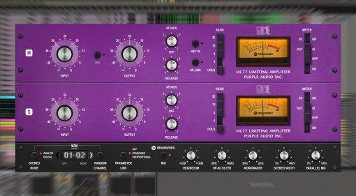 Brainworx emuliert mit Purple Audio MC77 einen aufgemotzten 1176 Kompressor