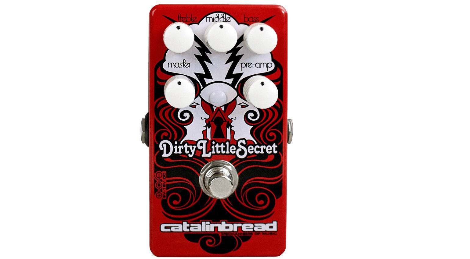 Catalinbread Dirty Little Secret Red Mod DLS Overdrive Pedal Front