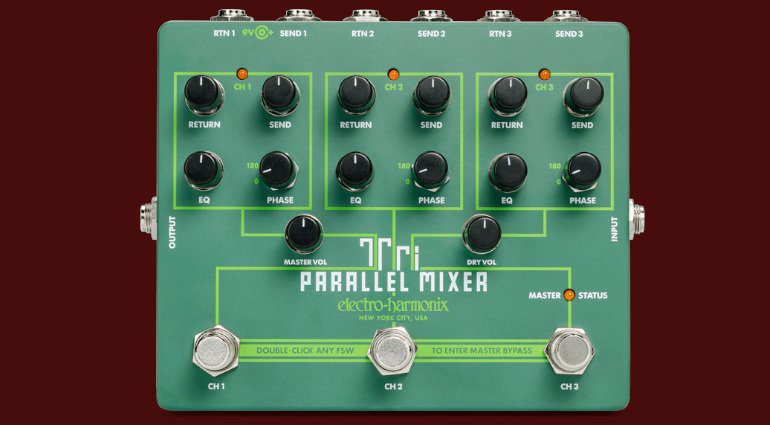 Electro Harmonix Tri Parallel Mixer EHX True Bypass Looper