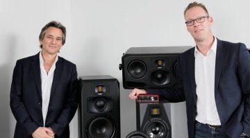 Tim Carroll (CEO Focusrite Group) und Christian Hellinger (CEO ADAM Audio)