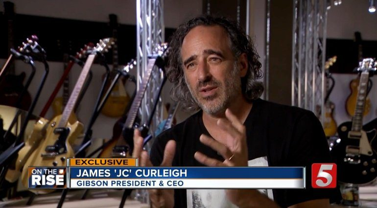 Gibson CEO James 'JC' Curleigh