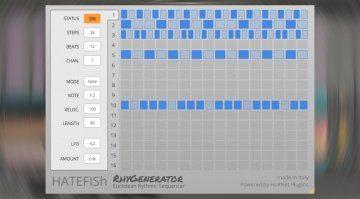 HoRNet HATEFISh RhyGenerator - das Euclidean Rhythm Generator Plug-in