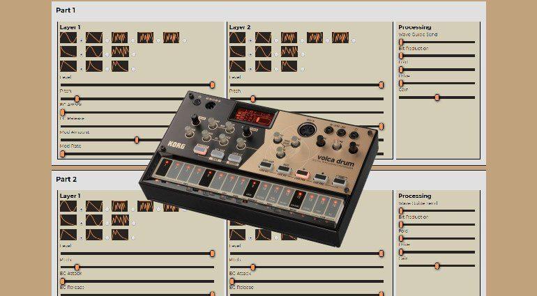 Synthmata Online Volca Drum Editor von Synthmata