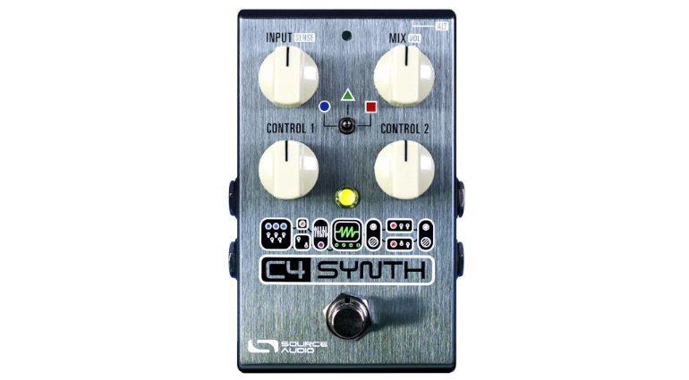 Source Audio C4 Synth Effekt Pedal Front Solo